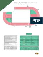 IAAF Track and Field Facilities Manual 2008 Edition - Marking Plan 200m Indoor Track