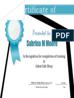 Safety 2 2015 Certificate