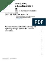 Libertad de cátedra, colegialidad y autonomía