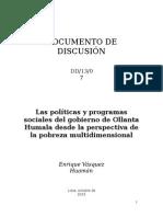 UPacifico_Las Politicas Del Gobierno Actual de Ollanta Humala
