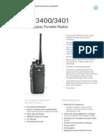 Motorola DP 3400 - DataSheet