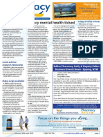 Pharmacy Daily for Mon 20 Apr 2015 - Phmcy mental health ticked, NZ