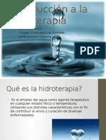 Introducción a La Hidroterapia