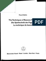 Pascal Gallois-techniques Bassoon