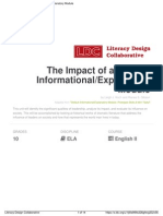 the impact of a leader  informational explanatory module
