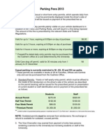 Property Parking Fees 2013