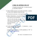 Examen Final de Autocad Civil 3d
