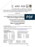 Convocatoria al LVI Campeonato Nacional Abierto de Ajedrez en Monterrey N.L.