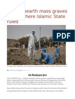 Iraqis Unearth Mass Graves in City Where Islamic State Ruled