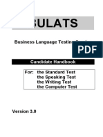 China Exams Bulats Handbook