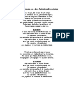 Temas Rock Nacional Canto Setiembre 2014