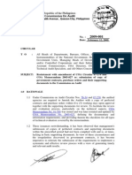 COA Circular2009-001 Submission of Contracts