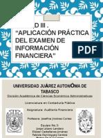 Exposicion Unidad 3 Auditoria Financiera