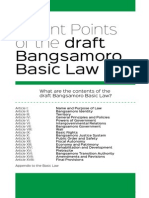 What are the contents of the draft Bangsamoro Basic Law?