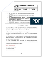 Teste de física - 1ª Série - Gabarito.docx