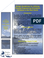 Design Guidelines for Utilizing Process Engineering Simulation Software