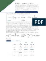 Reducción y Oxidación de Alcoholes