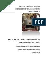Práctica Viscosidad Saybolt-Furol de Emulsiones de 25 a 50
