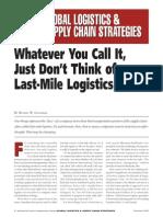 Global Logistics Supply Chain Strategies