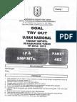 SOAL TRYOUT KABUPATEN UJIAN NASIONAL (UN) IPA SMP TAHUN 2015 PAKET 403