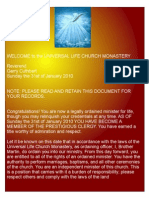 Welcome to the Universal Life Church Monastery