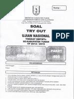 NASKAH SOAL UJIAN NASIONAL (UN) IPA SMP SE-KABUPATEN TUBAN  TAHUN  2015 PAKET 405