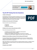 Top 20 Questions on API Testing