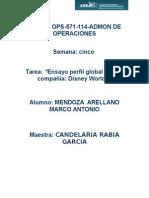 Mendoza_arellano_S5_T5Ensayo Perfil Global de Una Compañía Disney World