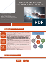 SecX_Group10_Review of SAP Industry Solutions in MEDIA INDUSTRY Updated