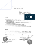 Decreto de Rectoría No 10 2012 Reglamento de Prácticas Progresivas y Prácticas Profesionales