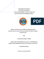DISEÑO CONCEPTUAL DEL SISTEMA DE REFRIGERACIÓN MECÁNICA DE UNA PLANTA DE GAS NATURAL LICUADO EN GÜIRIA, ESTADO SUCRE