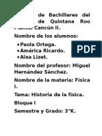 Historia de La Fisica America Paola y Liz