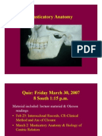Masticatory Anatomy