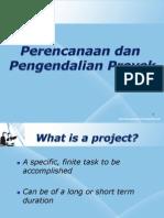 Perencanaan Dan Pengendalian Proyek