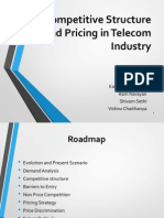 Competitive Structure and Pricing in Telecom