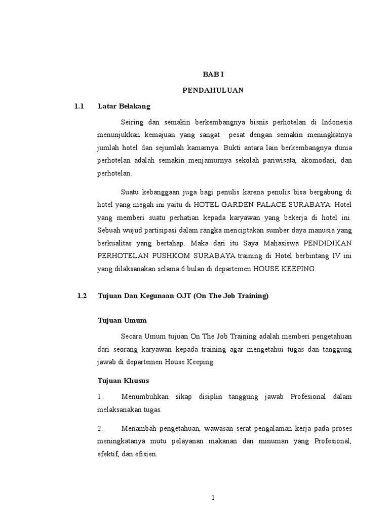 Laporan Ojt Pushkom Rizal Print