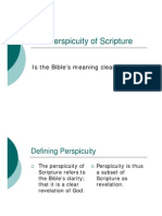 The Perspicuity of Scripture