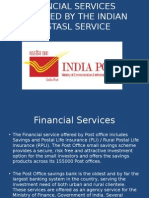 Financial Services Provided by the Indian Postasl Service