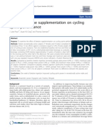 Sports N Effect of betaine supplementation on cyclingsprint performanceutrition Article