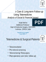 Post-operative Care & Long-term Follow-up Using Telemedicine Analysis of Social & Financial Impact