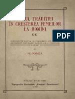 Rolul Traditiei În Cresterea Femeilor La Romini Nicolae Iorga