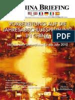 Vorbereitung auf die Jahresabschlussprüfung in China