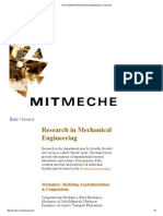 MIT Department of Mechanical Engineering - Research
