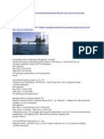 Daftar Lengkap Alamat Perusahaan Ekplorasi Minyak Dan Gas Di Indonesia