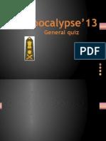 Apocalypse'13