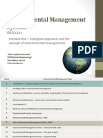 Ecological Approach and the Concept of 22.1.2014