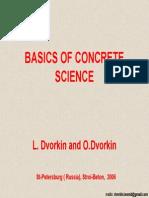Basics of Concrete Science