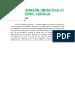 Programación Lomce 1º Lengua