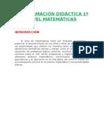 Programación Lomce 1º Matemáticas