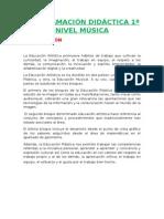 Programación Lomce 1º Música
